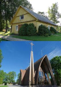 Naujoji ir senoji Dubingių bažnyčios